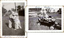 1952 Blond Toddlers Kiss Radio Super Wagon Play Kelly Netter Ricky Coats Photos