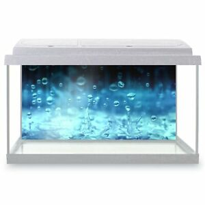 Fish Tank Background 90x45cm - Stunning Water Droplets Art  #3741