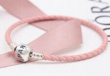 Authentic Pandora Moments Pink Single Woven Bracelet Barrel Clasp #590705CMP-S