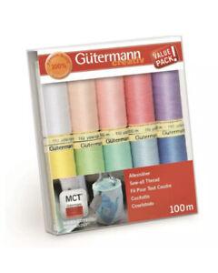 Gütermann Allesnäher Pastell Nähfaden-Set-2 (10 Farben/ 100 m) - 734006-2