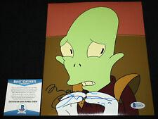Maurice LaMarche signed 8 x 10, Futurama, Pinky & the Brain, Beckett BAS