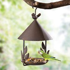 Hanging Bird Feeder Parrot Iron Food Container Wild Seed Outdoor Birdfeeders