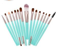 15Pcs Completed brushes set Set Eyeliner Pencil Blending Brow Eyeshadow Brush S3