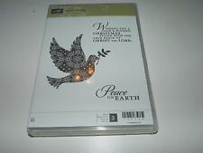 Stampin Up Calm Christmas CLEAR Mount Stamp Set of 3 Dove Peace on Earth