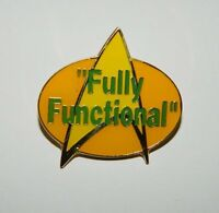 Star Trek: The Next Generation Fully Functional Phrase Cloisonne Pin 1989 UNUSED