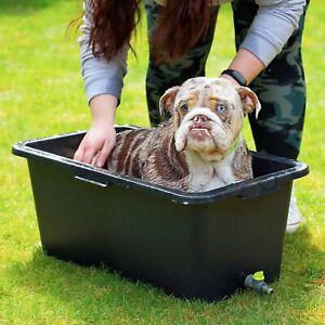 4 Sizes Pet DOG CLEANING BATH + TAP DRAIN VALVE Multi Purpose Tub Bathtub