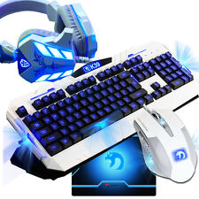 KIT TASTIERA E MOUSE GAMING GAME LED MULTIMEDIALE + CUFFIE Kit USB CABLATO
