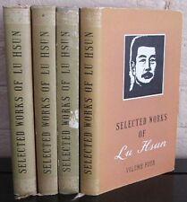 SELECTED WORKS OF LU HSUN : (Complete 4 Volume set in DJ) 1956