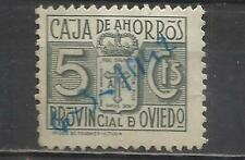 7563-SELLO FISCAL LOCAL CORPORATIVO 1939-42.CAJA AHORROS  OVIEDO,ASTURIAS.