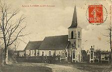 14 SAINT-PIERRE-DES-IFS CARTE POSTALE EGLISE 1915