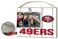 San Francisco 49ers Clip It Weathered Logo Photo Frame [NEW] NFL Picture Plaque