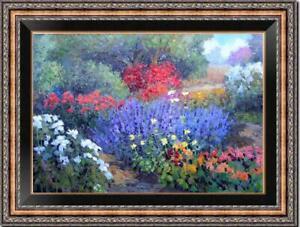 "Hand-painted Original Oil painting art Landscape Flower on Canvas 24""X36"""
