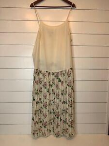 VINTAGE Scott McClintock Dress 16W Plus Size Pleated Floral GORGEOUS! USA Made