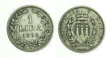 pcc1036_1) Repubblica San Marino 1898   Lire 1  - rara - TONED