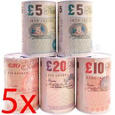 SET OF 5 POUND NOTE DESIGN MONEY TIN PIGGY BANK BOX SAVINGS COINS CASH CHANGE