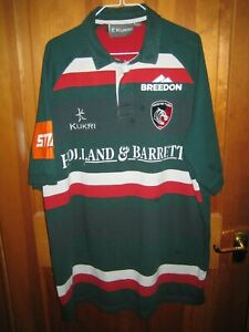 Leicester Tigers Rugby Shirt Size XXXL - By Kukri - Short Sleeved Heavy Cotton