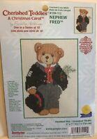 JANLYNN Cherished Teddies, A Christmas Carol, Nephew Fred, Counted cross stitch