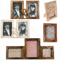 Shabby Chic Standing Photo Picture Frames Rustic Vintage Style Home Decoration
