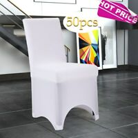 50pcs White Stretch Spandex Folding Chair Covers For Wedding Party Event Banquet