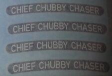 "FAT TIRE bike rim decals  ""Chief Chubby Chaser"" Borealis SurlyTrek Farley Fatty"