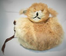 Child's Vintage Rabbit Muff with Dog Face 1950's