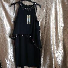 Coast Black Sequin Dress - 14