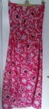 M&co boob tube open shoulder summber dress multi pink floral 14