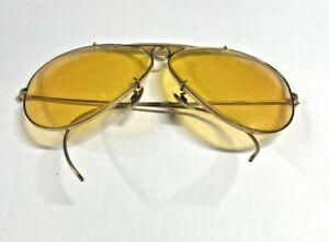B&L Ray Ban USA Gold Shooters 62[]XX Vintage Sunglasses 24D