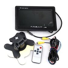 """7""""Inch TFT Digital LCD Monitor Mirror Car Rear View Parking Backup Camera Kit US"""