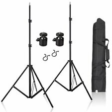 """2Pcs 80Inch Adjustable Aluminium Alloy Stands With 1/4"""" Mount Ball Head& Bag Kit"""