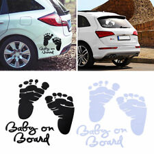 Baby on Board Fuß Aufkleber Abdrücke Autoaufkleber Fahrzeug Fußabdruck Sticker