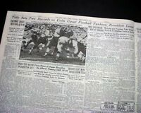 Y. A. TITTLE Baltimore Colts Quarterback NFL Football RECORDS 1948 Old Newspaper