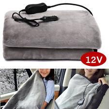 150x110cm 12V Flannel Car Heated Blanket Soft Electric Travel Winter Warm
