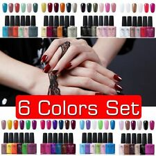GEL LAB 6 Colors Set 10ml Gel Polish Base Top Coat Manicure Varnish Lacquer