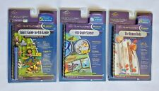 Lot of 3 Quantum Leap Books & Cartridges Smart Guide to 4th Grade, Science.