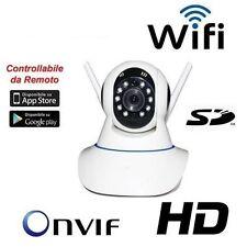 TELECAMERA IP HD 720P CAMERA INFRAROSSI WIRELESS WIFI WI-FI REGISTRA MICRO SD