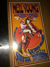 Neil Young and Crazy Horse 1st Print Show Handbill signed Bob Masse