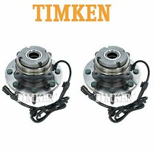 For Ford Excursion 4WD Set of 2 Front Wheel Bearings & Hub Assemblies Timken