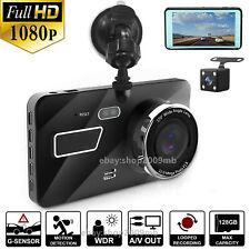 "4"" FHD 1080P Vehicle Dash Cam Car Dashboard DVR Camera Video Recorder G-Sensor"