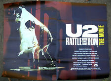 U2 Rattle And Hum The Movie 1988 Uk Org Film Poster Bono Edge Adam Larry Minty!