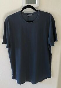 NWT Buck Mason Men Dark Navy Venice Wash Pima 100% Cotton Curved Hem Tee T-shirt