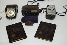 2-1954 Kodak Master Photoguides + GE PR-3, Weston Cine & Sekonic Exposure Meters