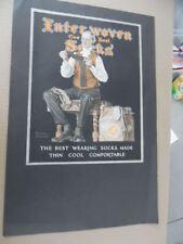 1924 Norman Rockwell Interwoven Stocking Company Socks Print Ad Vintage ORIGINAL