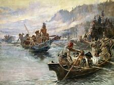 Lewis and Clark on the Lower Columbia Charles Russell Native American 32x24