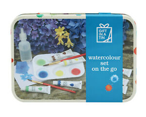 Watercolour set on the go, in a tin