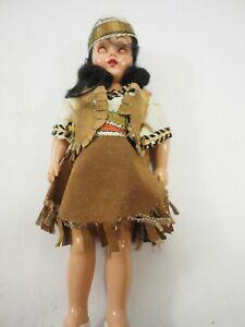 Vintage Indian Princess Doll fringed vest and dress