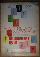 MATT HELM'S SLAYGIRLS 1967's CALENDAR, MURDERERS' ROW