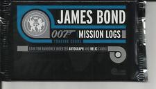 James bond mission logs , trading cards  pack