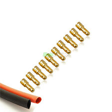 10 Male RC 3.5mm Gold Bullet Connectors INC Heat Shrink For Motor ESC UK