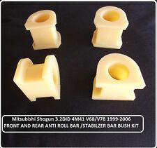 for Mitsubishi Pajero Shogun MK3 3.2DiD Front & Rear Anti Roll Bar BUSH KIT 99+